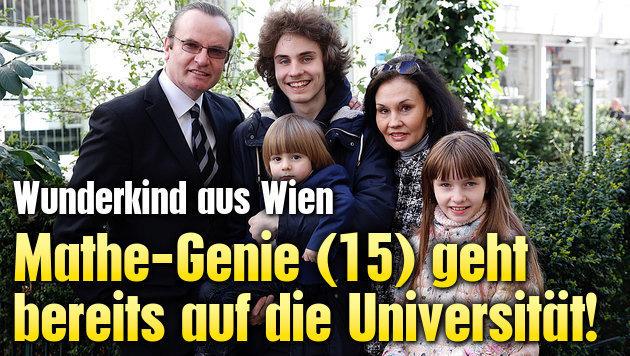 Mathe-Genie (15) geht bereits auf die Universität! (Bild: Martin A. Jöchl)