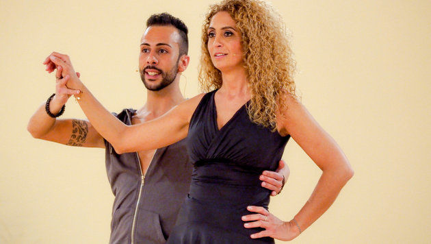Eser Ari-Akbaba mit Danilo Campisi (Bild: ORF)