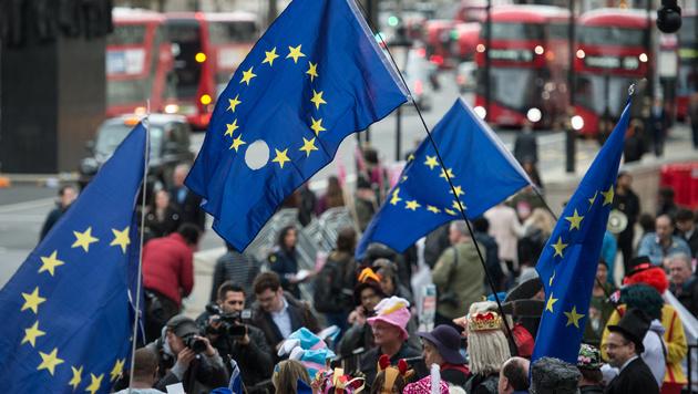 """Brexit: """"No deal"""" würde teuer für Großbritannien (Bild: AFP)"""