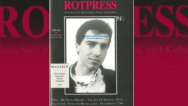 """Ende der 1980er-Jahre brachte Kern als """"Rotpress""""-Chef sein eigenes Foto auf die Titelseite. (Bild: Rotpress)"""