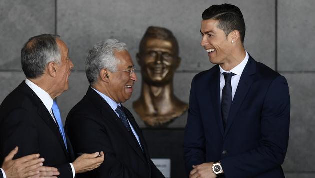 Ronaldo-Büste: Künstler wehrt sich nach Gelächter! (Bild: AFP)