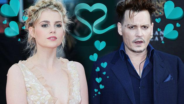 Johnny Depp soll sich in die bildhübsche Lucy Boynton verliebt haben. (Bild: Viennareport, thinkstockphotos.de)