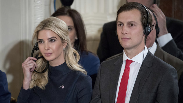 Ivanka Trump mit Ehemann Jared Kushner (Bild: Associated Press)