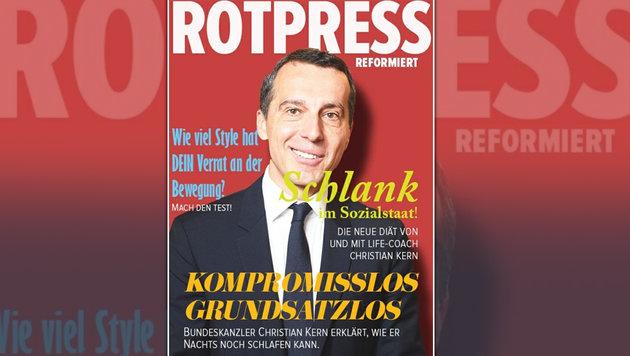 Aktuelle Ausgabe: Junge Parteifreunde bringen ein Kern-Bild mit wenig schmeichelhafter Beschreibung. (Bild: Rotpress)