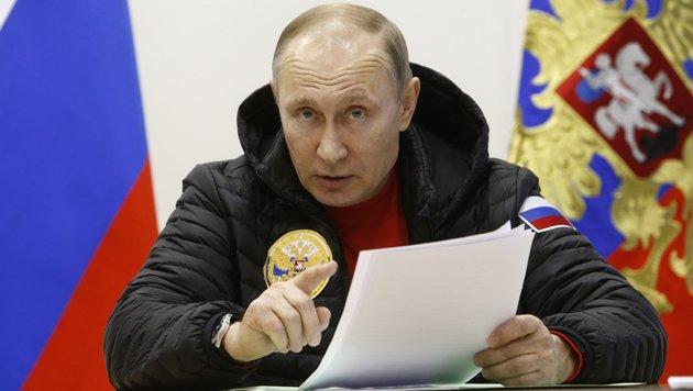 Putin: Klimawandel nicht vom Menschen gemacht (Bild: AP)