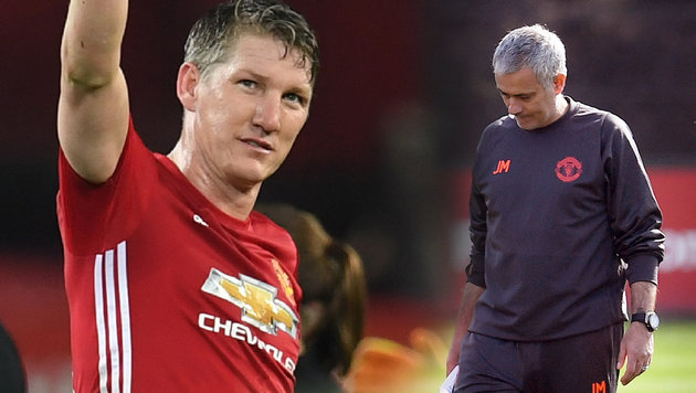 Jose Mourinho entschuldigt sich bei Schweinsteiger (Bild: AFP)