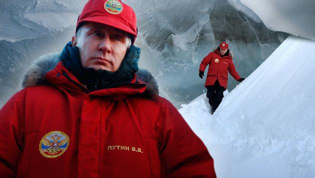 Putin: Klimawandel nicht vom Menschen gemacht (Bild: APA/AFP/SERGEI KARPUKHIN, APA/AFP/Alexey DRUZHININ)