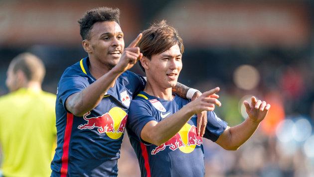 Red Bull Salzburgs Schützenfest! Zu gut für Liga? (Bild: APA/DIETMAR STIPLOVSEK)