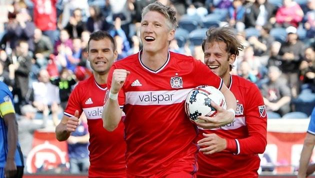 Traum-Debüt für Bastian Schweinsteiger in Chicago (Bild: AFP)