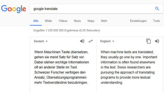 Schweizer Forscher tüfteln an besseren «Google Translate