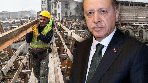 So ruiniert Erdogan die türkische Wirtschaft (Bild: AFP/OZAN KOSE, AFP/YASIN BULBUL)