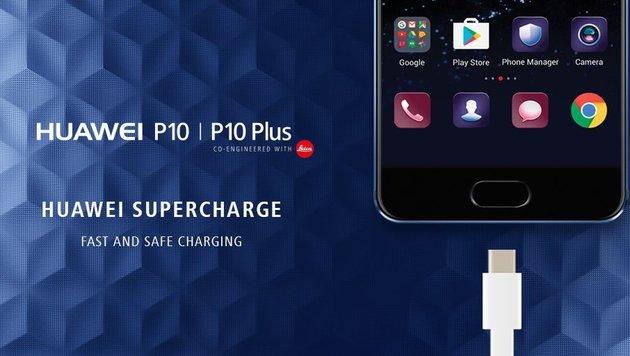 Die Schnellladefunktion lädt Ihr Smartphone in nur 30 Minuten wieder auf. (Bild: Huawei)
