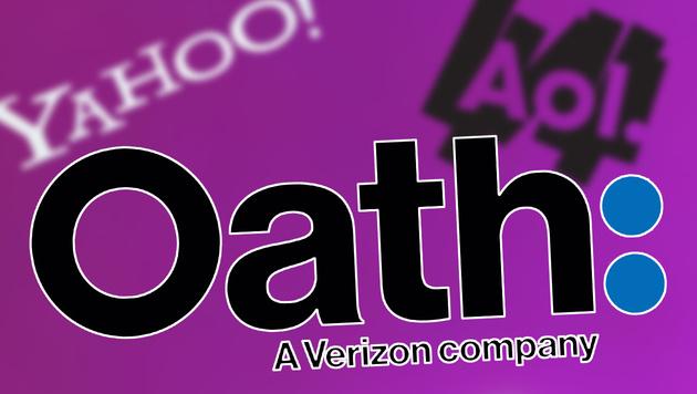 """Yahoo und AOL sollen zu """"Oath"""" verschmelzen (Bild: Yahoo, AOL, Verizon, krone.at-Grafik)"""