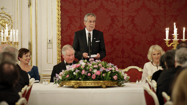 Das royale Staatsbankett (Bild: APA/BUNDESHEER/PETER LECHNER)