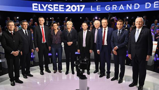 Die Kandidaten für die Präsidentschaftswahl in Frankreich (Bild: AFP)
