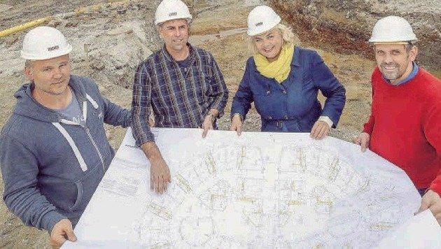 Christian Buchegger, Josef Pfeifenberger, Anja Hagenauer und Christian Kagerer (v. links). (Bild: Markus Tschepp)