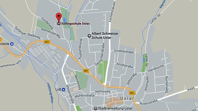 An dieser Schule plante der 16-jährige Deutsche einen Amoklauf. (Bild: Screenshot google.maps)