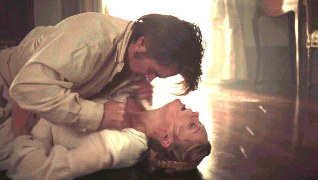 """Kirsten Dunst und Colin Farrell in einer Szene des Films """"The Beguiled"""". (Bild: Viennareport)"""