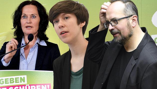 Junge Grüne zündeln nach Partei-Rausschmiss weiter (Bild: APA/Robert Jäger, APA/Helmut Fohringer, APA/Herbert Neubauer)