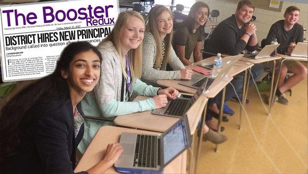 US-Schülerzeitung bringt eigene Direktorin zu Fall (Bild: twitter.com, boosterredux.com)
