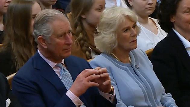 Charles und Camilla genossen die Darbietung im Musikverein. (Bild: APA)