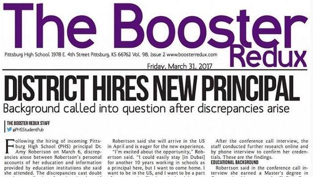 Über diesen Artikel ist die Schulleiterin gestolpert. (Bild: boosterredux.com)