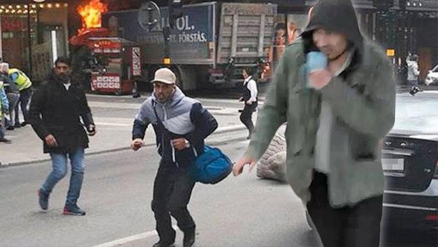 Lkw als Waffe: Diesmal traf der Terror Stockholm (Bild: twitter.com, AP)