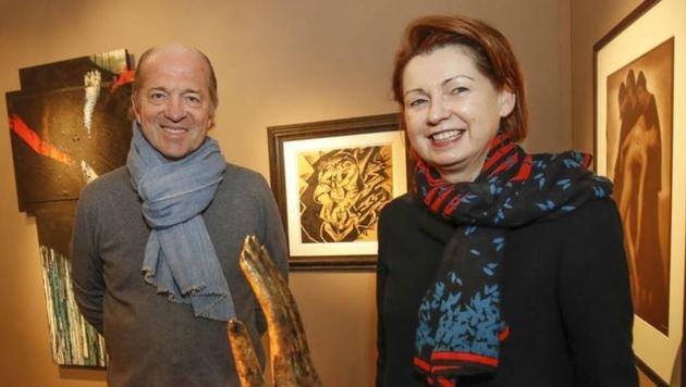 Kunstsalon Art Salzburg Thoma  Salis und Christa Armann (Bild: Markus Tschepp)