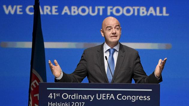 FIFA-Präsident Gianni Infantino (Bild: AP)