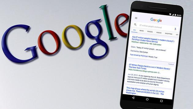 Google weitet Faktencheck-Label auf Suche aus (Bild: AP, Google, krone.at-Grafik)