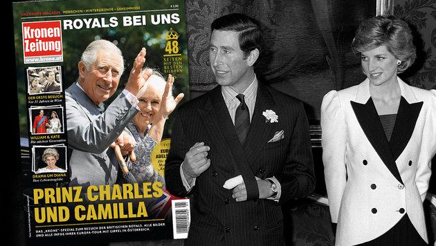 """Neues """"Krone""""-Magazin: Alles über die Royals! (Bild: Kronen Zeitung, APA)"""