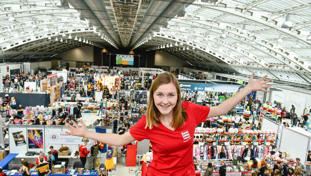 Tausende Besucher tummelten sich am Samstag auf der Comic Con Austria, Sonntag geht der Spaß weiter. (Bild: Markus Wenzel)