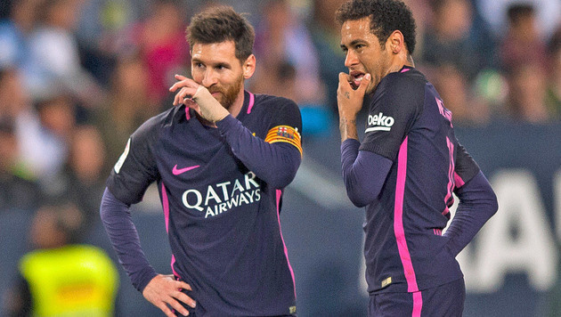 FC Barcelona blamiert sich bei Malaga (Bild: AP)