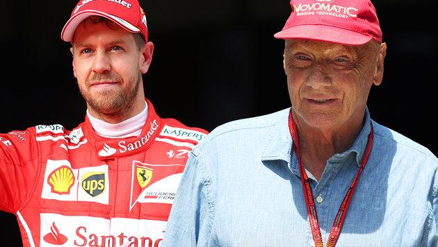 """Nach Wette: Vettel nennt Lauda """"geizigen Sack""""! (Bild: GEPA)"""