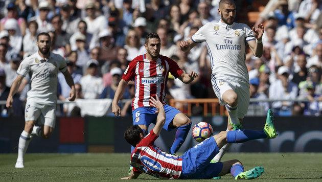 Real Madrid im Derby gegen Atletico nur 1:1 (Bild: AP)