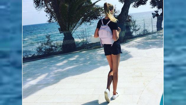 Tennis-Ass Daniela Hantuchova genießt das Wochenende in Italien. (Bild: facebook.com)