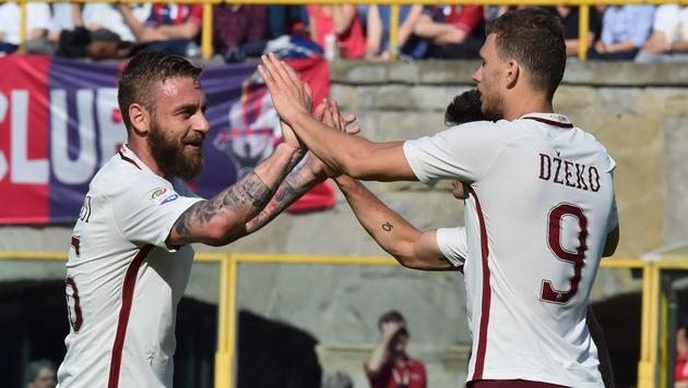 AS Roma nach 3:0 wieder sechs Punkte hinter Juve (Bild: AFP)