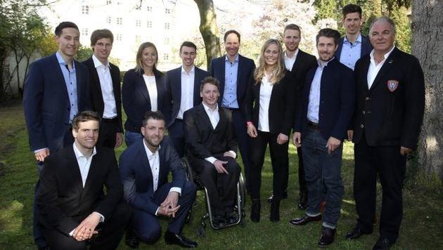 Salzburgs WM-Medaillengewinner (außer M. Kramer) auf einen Blick. (Bild: Andreas Tröster)
