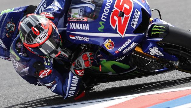 Cooler Maverick gewinnt zweites Moto-GP-Rennen! (Bild: David Fernandez / EFE / picturedesk.com)