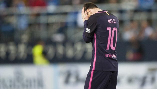 Herber Dämpfer für Barcelona im Titelkampf (Bild: AP)