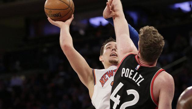 Pöltl an 50. Raptors-Sieg maßgeblich beteiligt! (Bild: Seth Wenig / AP / picturedesk.com)
