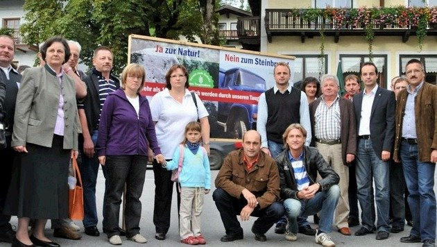 """Massiver Widerstand und lautstarke Proteste gab""""s schon bei den Projekt- Verhandlungen im Jahr 2009. (Bild: Wolfgang Weber)"""