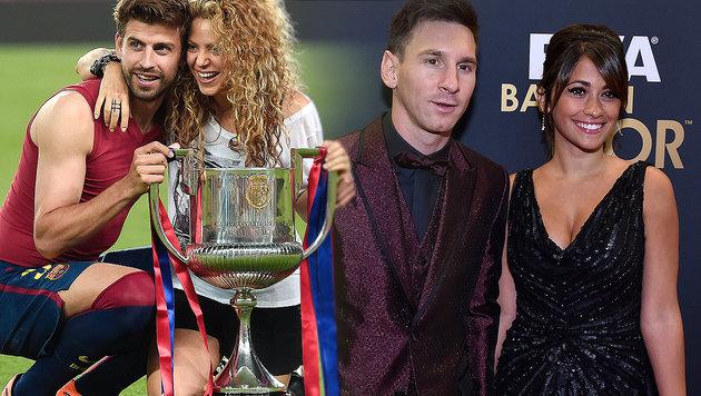 Zickenzoff! Darf Pique nicht auf Messis Hochzeit? (Bild: AFP)