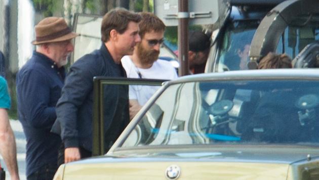 """Tom Cruise am Set des neuesten """"Mission: Impossible""""-Streifens in Paris (Bild: Viennareport)"""