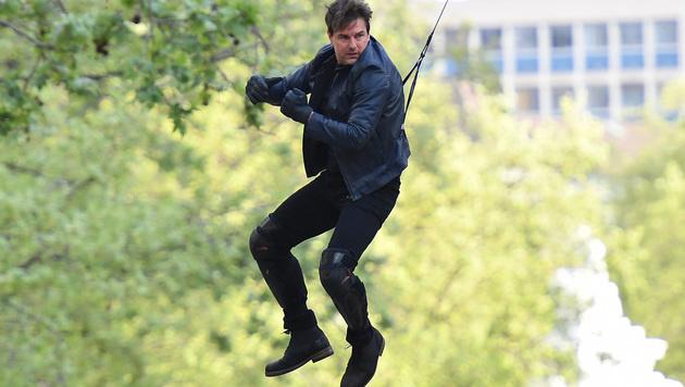 54 und kein bisschen leise: Tom Cruise liebt es, seine Stunt-Szenen selbst zu drehen. (Bild: Viennareport)