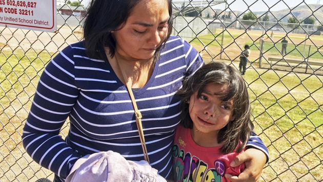 Marissa Perez (9) musste mit ansehen, wie ihre Lehrerin erschossen wurde. (Bild: AP)