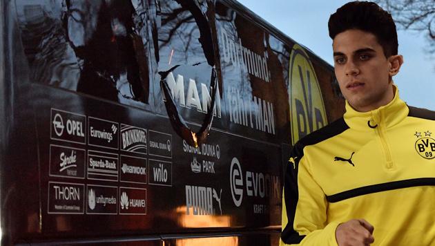 Anschlag in Dortmund: Bomben gegen Teambus (Bild: AFP)