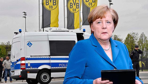 Bundeskanzlerin Angela Merkel wird in dem Bekennerschreiben gedroht. (Bild: AP)