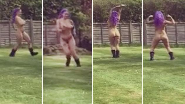 Britisches Model feiert Scheidung mit Nackttanz (Bild: instagram.com/jodiemarsh)