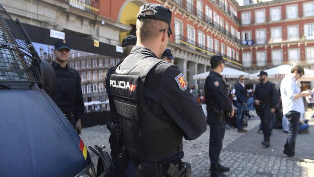 Acht Leicester-City-Fans in Madrid festgenommen (Bild: AFP)